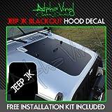 Jeep Wrangler Jk Blackout Hood Decal 2007-2012 Wranglers Stickers Matte Black Anti Glare