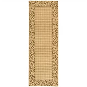 Courtyard Rug CY0727 Brown Natural 2ft x 9ft