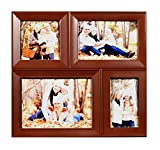 Brown Exclusive 4 in one Photo Frame( 1- 5x7 inch, 1- 4x6 inch, 1- 3x5 inch & 1 - 4x4 inch.)