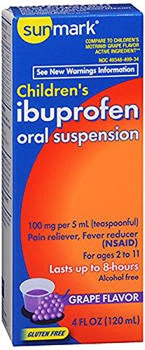 Sunmark Childrens Ibuprofen Oral Suspension, 100 mg, Grape 4