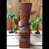 HAWAIIAN TIKI GUARDIAN(TALISMAN)木製手彫りのハワイティキ ガーディアン「タリスマン」(厄除け):Lサイズ 【ハワイアン雑貨、フィギュア、木彫り、守り神】