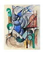 Especial Arte Lienzo House in abstract landscape - Mark Franz Multicolor
