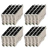 Set of 16 Compatible Epson T0611 (Black) Printer Ink Cartridge for Epson Stylus D68, D68 Photo, D88, D88 Photo, D88 Plus, DX3800, DX3850, DX4200, DX4250, DX4800, DX4850 Printers **by Printer Ink Cartridges**