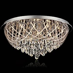 "Amazon.com - Luxury European 31.5"" Stainless Steel Top crystal Hanging"