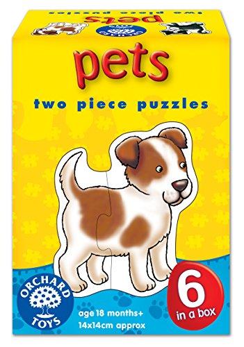 Pets 2 Piece Puzzles, 6 Count