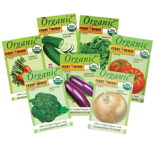 Ferry Morse Organic Vegetable Garden, 7-Pack