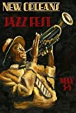 CANVAS New Orleans Jazz Festival Music Trumpet Player 12″ X 16″ Inches Image Size Poster Reproduction ON CANVAS. More Sizes Available!!