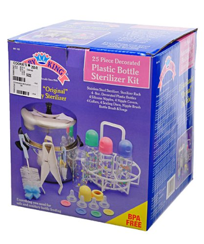 "Plastic Bottle Sterilizer Kit 25 Pcs the ""Original"" Baby Stainless Steel Sterilizer - 25 Items"