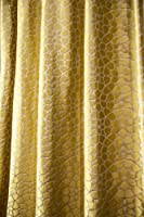 Mystique gold embossed heavy satin faux silk curtain panel