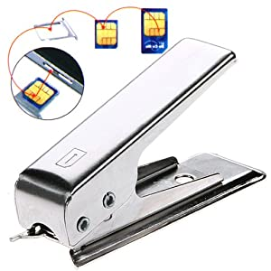 LUPO Micro Sim Card Cutter & 2 Adapters - For iPhone 4, 4S & iPad (SILVER)