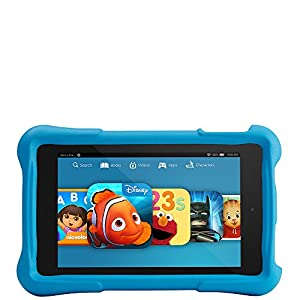 "Fire HD 6 Kids Edition, 6"" HD Display, Wi-Fi, 8 GB, Blue Kid-Proof Case by Amazon"