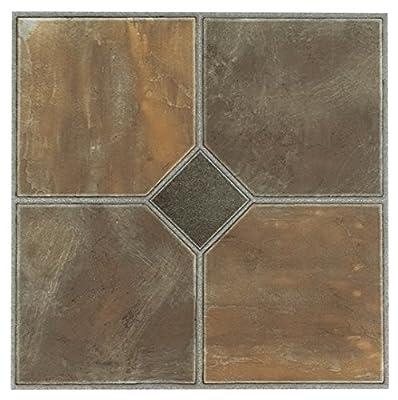Achim Home Furnishings FTVGM32645 Tivoli Self Adhesive Vinyl Tiles, 12 x 12-Inches, Rustic Slate, 45 Pack