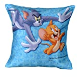 MeSleep Warner Brother Digitally Printed Tom And Jerry Cushion Cover - Multicolor (WBtj-Rn-10-16)