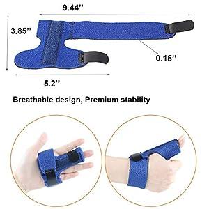 Mcvcoyh Trigger Finger Splint, Finger Knuckle Support Brace, Adjustable Brace for Straightening Curved, Bent, Locked and Mallet Finger Pinky,Thumb,Ring,Index (Left) (Color: 1#)