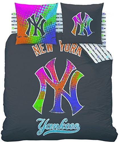 CTI 042709New York Yankees Street lenzuola copripiumino 200x 200cm, 2federe 63x 63cm, in cotone, multicolore