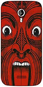 Snoogg Aztec Face Designer Protective Back Case Cover For Micromax A116
