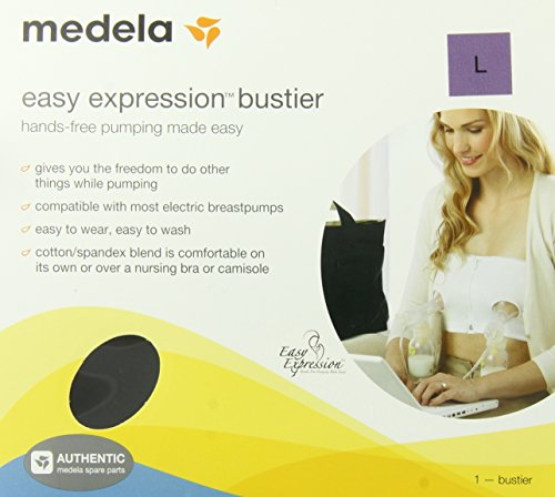 Best Prices! Medela Easy Expression Hands-Free Bustier, Black, Large