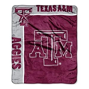 NCAA Texas A&M Aggies School Spirit Royal Plush Raschel Throw Blanket, 50x60-Inch by Northwest
