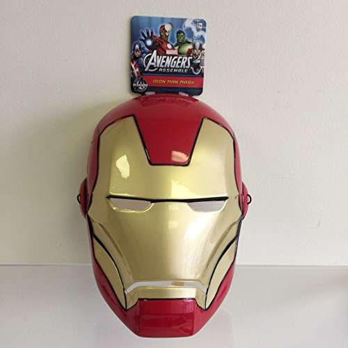 NEW, Marvel Avengers Iron Man Face Mask Halloween Costume Ages 3 and up (Best Ironman Costume)