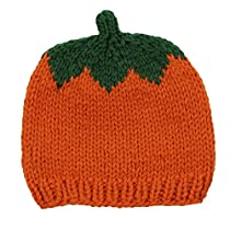 judanzy Knit Crochet Pumpkin Halloween & Thanksgiving Fall Hat (Small 4-12 Months)