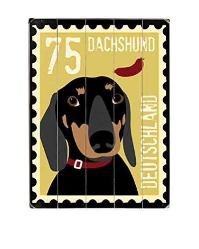 Artehouse Dachshund Postage Stamp Wood Wall Décor