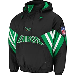 NFL Mitchell & Ness 6003 Vintage Nylon Flashback Jacket Philadelphia Eagles by Mitchell & Ness