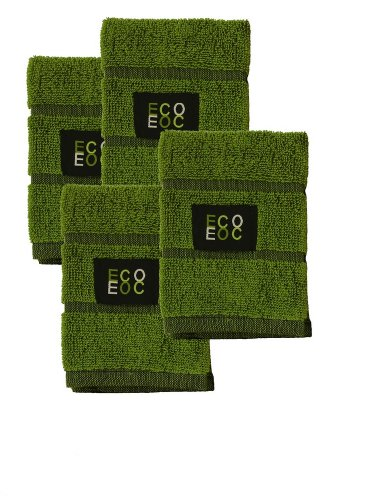 Black Overweave Dish Cloths (Bamboo Green, 4-Pack)