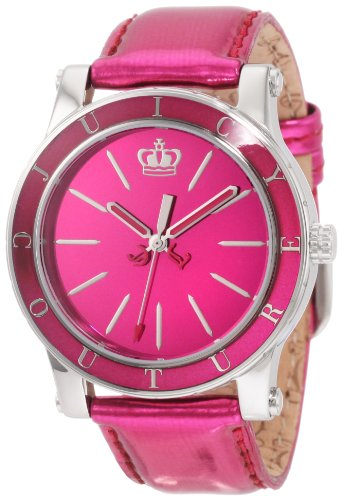 Juicy Couture Women's 1900839 HRH Hot Pink Mirror-Metallic Leather Strap Watch
