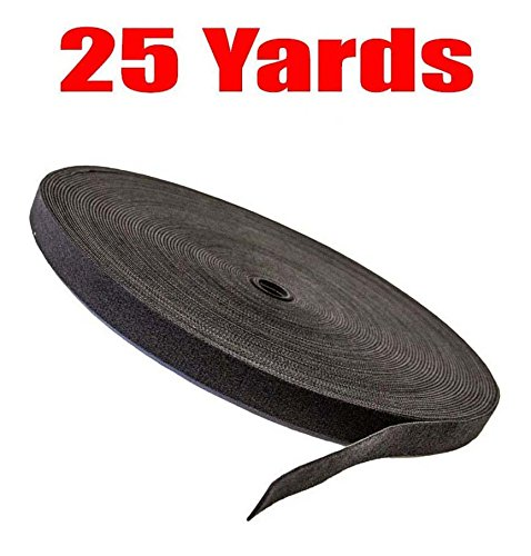 imbapricer-cable-fastening-tape-075-inch-one-wrap-hook-loop-75-feet-25-yards-roll-black
