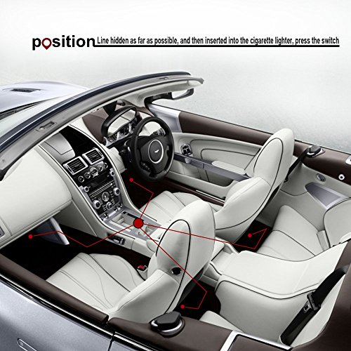 thunder 4pcs dc 12v car interior led light underdash. Black Bedroom Furniture Sets. Home Design Ideas