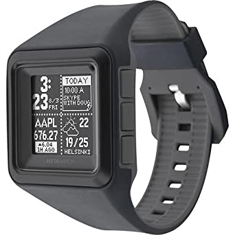 MetaWatch STRATA – Stealth Smartwatch (MW3007) for iPhone and Android