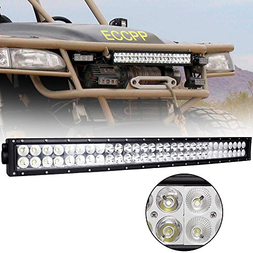 """Eccpp 32"""" 180W Curved Off Road Led Work Light Bar Auxiliary Driving Lamp Flood Spot Combo Beam For 4X4-Jeep/Cabin/Ute/Suv/Atv/Truck/Car/Boat/Fishing Excavator/Engineering Vehicle/Mining Vehicle/Beach Car/Fire Truck/Rescue Vehicles/Police Car/Garden Square"""