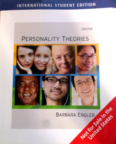 Personality Theories Eighth Edition (International Student Edition) (Theory Of Personality 8th Edition compare prices)