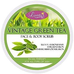 Luster Vintage Green Tea Face & Body Cream Scrub, 400g