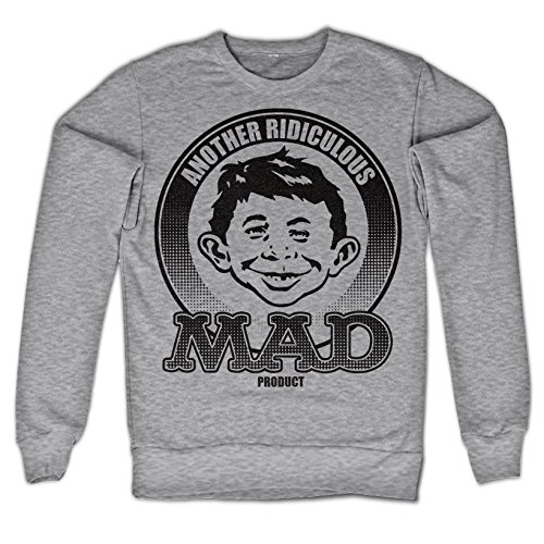 Officially Licensed Merchandise Another Ridiculous MAD Product Sweatshirt (H.Grey), Large