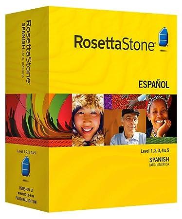 Rosetta Stone V3: Spanish (Latin America) Level 1-5 Set with Audio Companion [OLD VERSION]