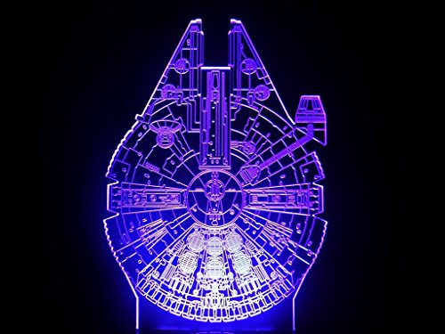 Star Wars Characters LED Lamp Night Light (Millennium Falcon)