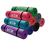 Bixle(TM) 1/2-Inch Extra Thick (15mm) 72-Inch Long High Density Exercise Yoga Mat with Comfort Foam and Carrying Case