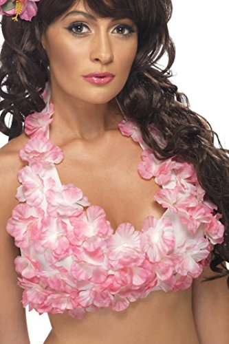 Smiffy's Hawaiian Halterneck Top With Flowers - 1