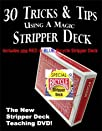 30 Tricks & Tips with a Stripper Deck DVD, Includes a Bicycle Stripper Deck – Easy Magic Card…