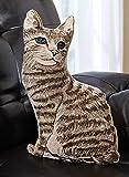 Tabby Cat Sitting Pillow