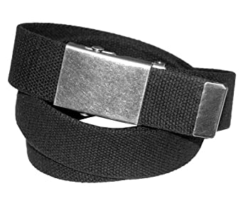 Levi's Men's Cotton Web Belt, Black, One Size