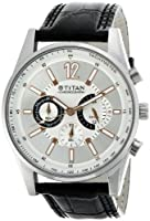 Titan Octane Chronograph Silver Dial Men's Watch - NE9322SL01A