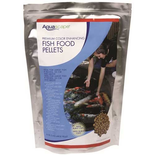 Aquascape premium color enhancing fish food pellets for for Koi fish food for sale