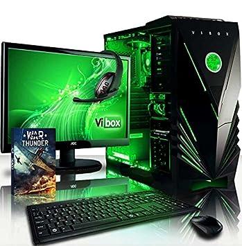 """Vibox Ultra 11X Unité centrale Ecran Non tactile 21,5""""(54,61 cm) Néon Vert (AMD Athlon 64 fx, 8 Go de RAM, 1,95 To, AMD Radeon R7)"""