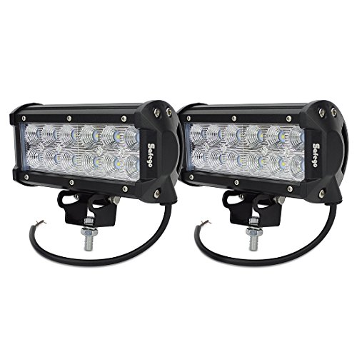 Led Lights For Lawn Tractor : Safego w led work light bar for trucks off road tractor atv jeep super bright flood beam