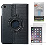 DMG Full 360 Rotating Cover Case For Apple Ipad Mini 3 (Dark Blue) + 2600 MAh PowerBank + Matte Screen
