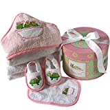 Baby Aspen Tillie the Turtle 4 Piece Box Bath Time Gift Set