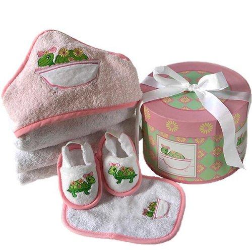 Baby Aspen Tillie the Turtle 4 Piece Box Bath Time Gift Set