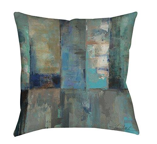 Thumbprintz Square Indoor/Outdoor Pillow, 18-Inch, Moonlight Aspen front-473038
